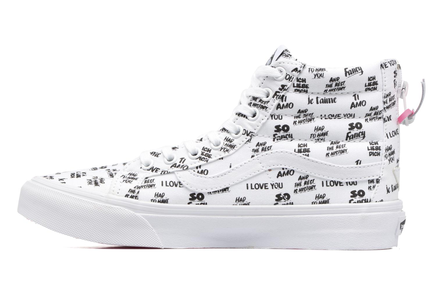 SK8-Hi Slim Zip (Baron Von Fancy) White/Black