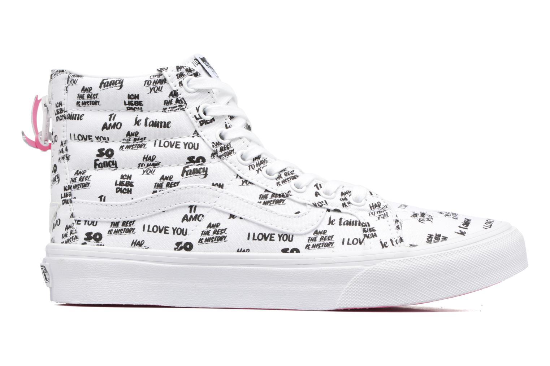 Sneaker Vans SK8-Hi Slim Zip weiß ansicht von hinten