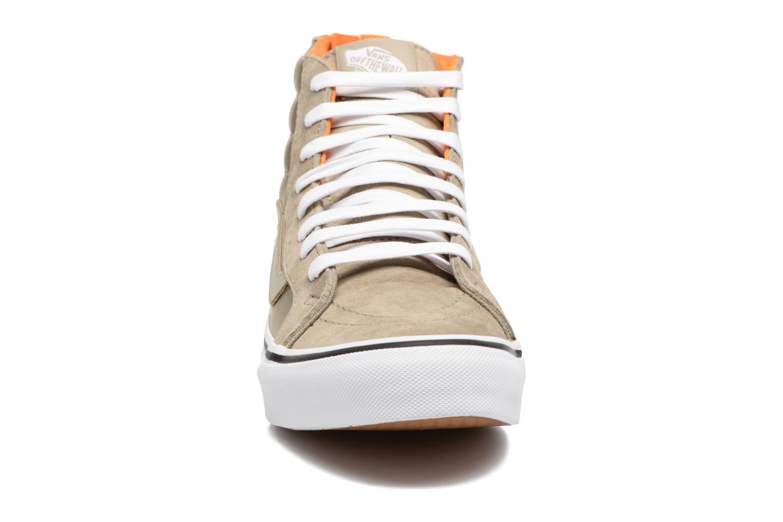 Baskets Vans SK8-Hi Slim Zip Vert vue portées chaussures