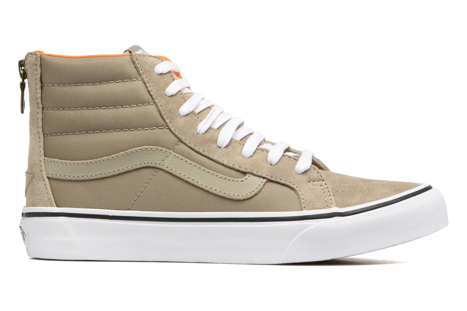 SK8-Hi Slim Zip Silver Sage/True White