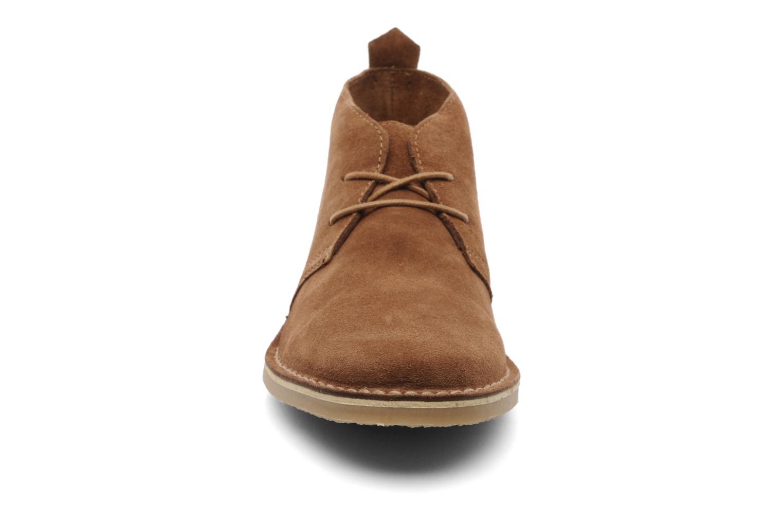 Schnürschuhe Jack & Jones JJ Gobi Suede Desert Boot Prm braun schuhe getragen
