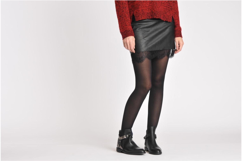 Vienetta 16 Black/Metallic leather