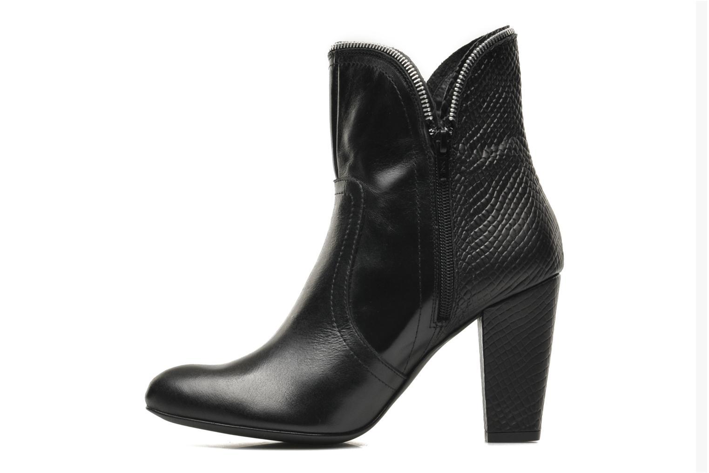 Bottines et boots Bronx Leelou Ter Noir vue face
