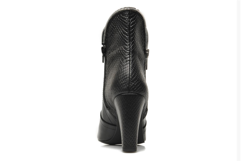 Bottines et boots Bronx Leelou Ter Noir vue droite