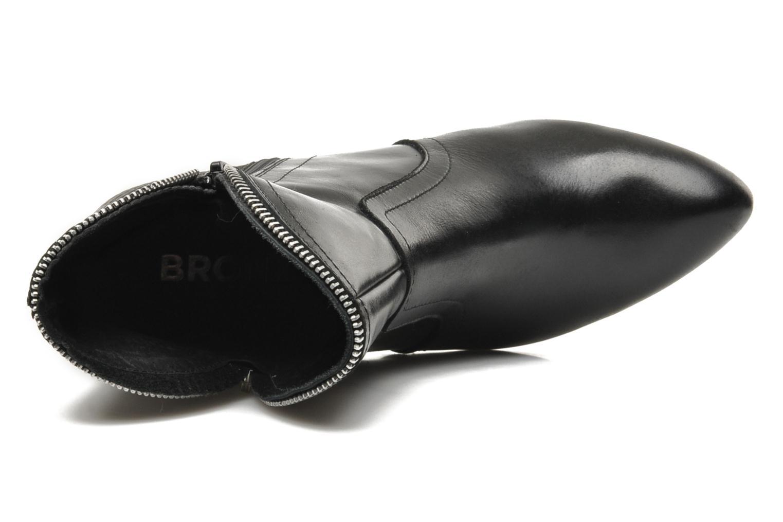 Bottines et boots Bronx Leelou Ter Noir vue gauche