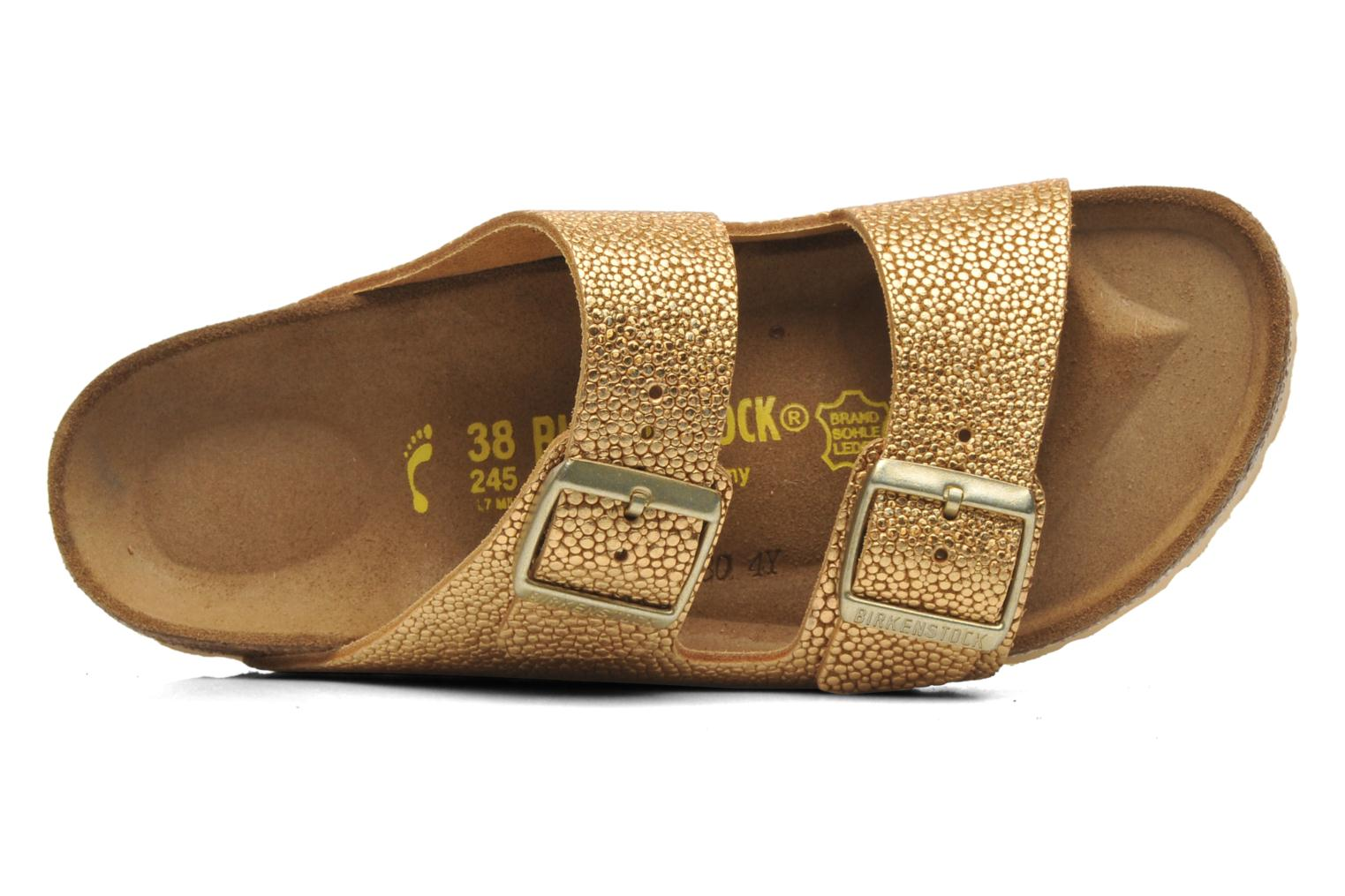 Arizona Cuir W Pebbles Metallic Gold