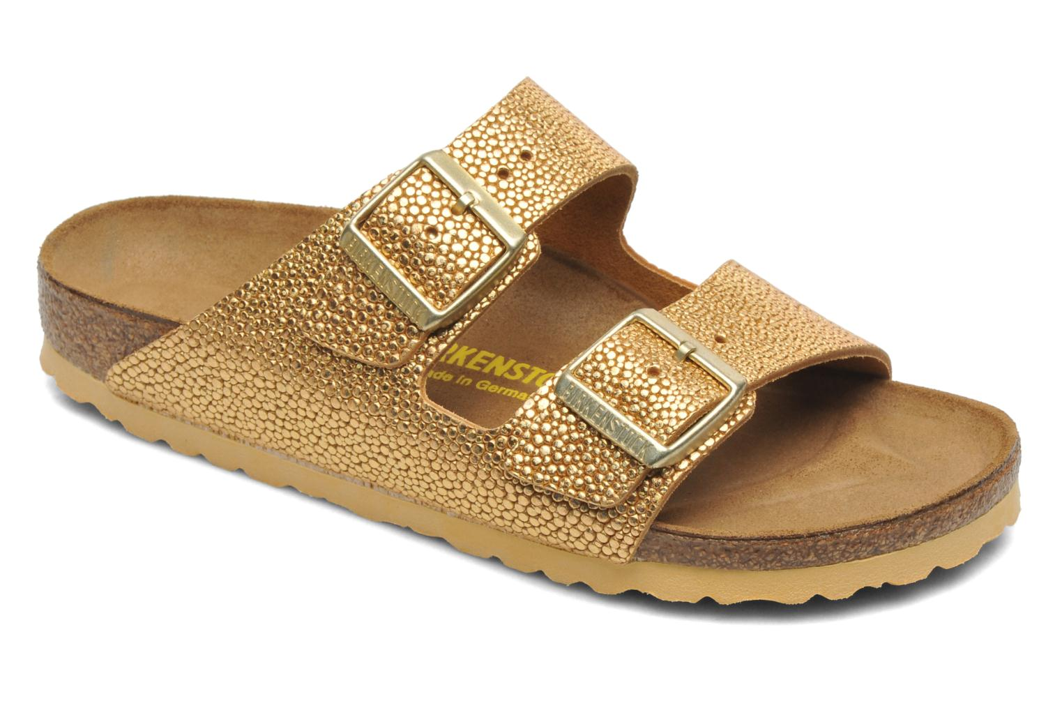 Newest Birkenstock Arizona Cuir W Bronze and Gold Womens Mules & Clogs Outlet UK1146