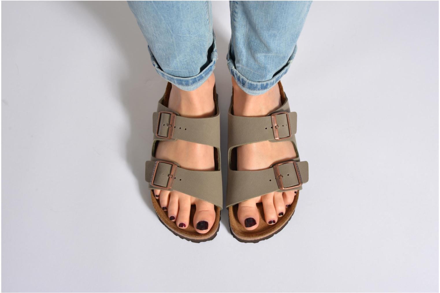 Mules & clogs Birkenstock Arizona Flor W Black view from underneath / model view