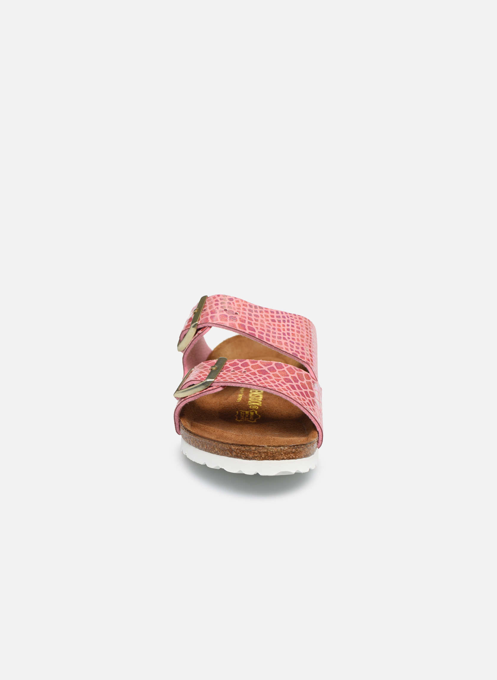 Clogs & Pantoletten Birkenstock Arizona Flor W rosa schuhe getragen