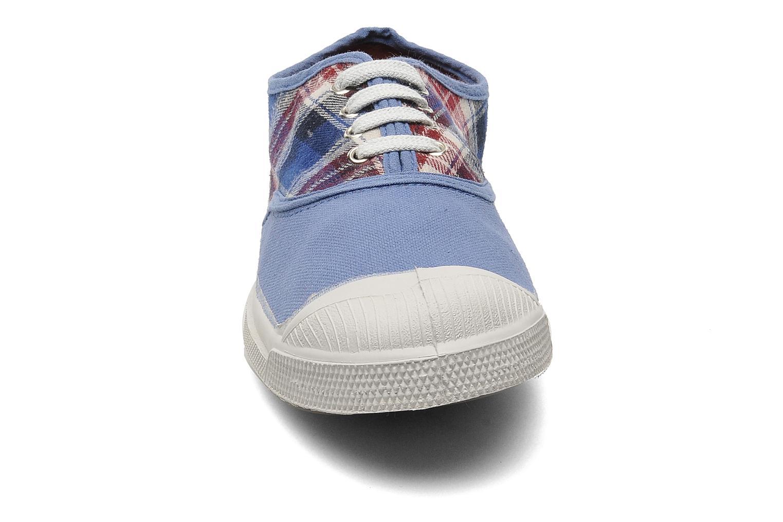 Sneaker Bensimon Tennis Lacets Carreaux Doux blau schuhe getragen