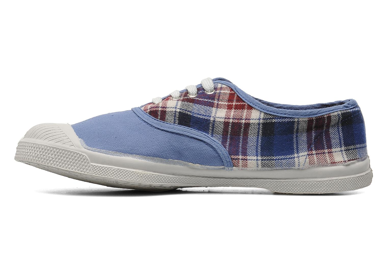 Sneaker Bensimon Tennis Lacets Carreaux Doux blau ansicht von vorne