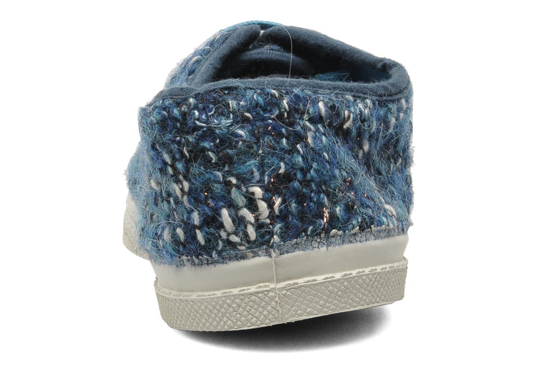 Sneakers Bensimon Tennis Lacets Tweedy Blauw rechts