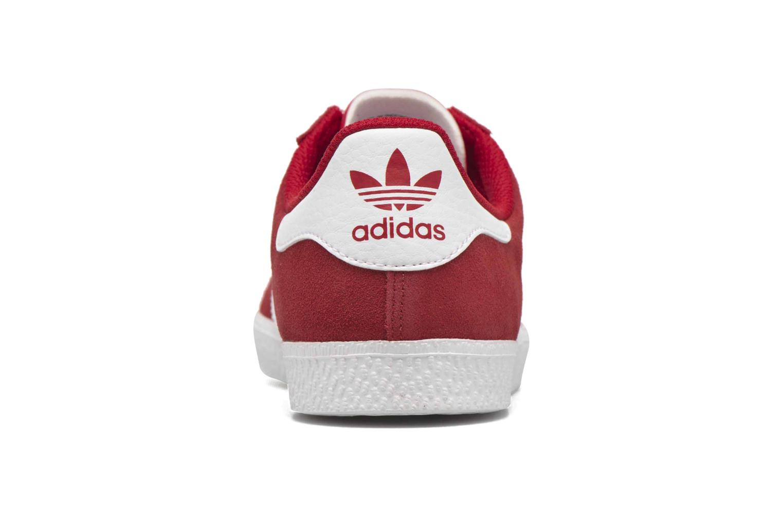 Baskets Adidas Originals Gazelle 2 J Rouge vue droite