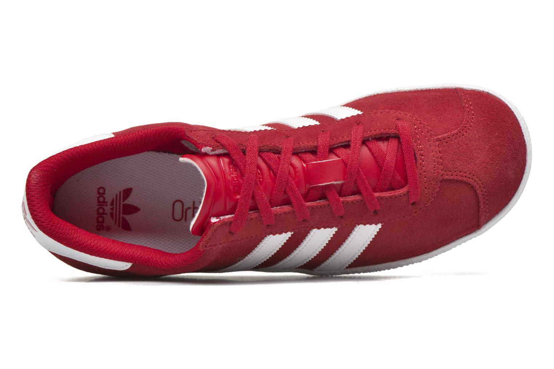 Baskets Adidas Originals Gazelle 2 J Rouge vue gauche