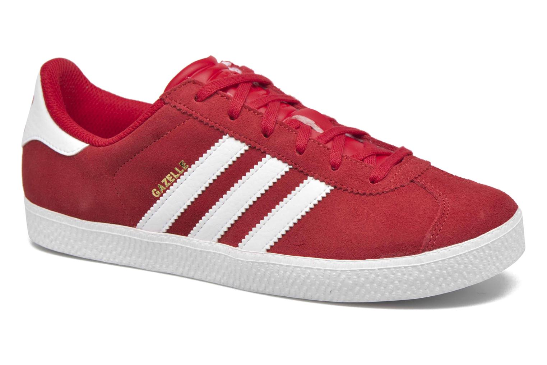 Baskets Adidas Originals Gazelle 2 J Rouge vue détail/paire