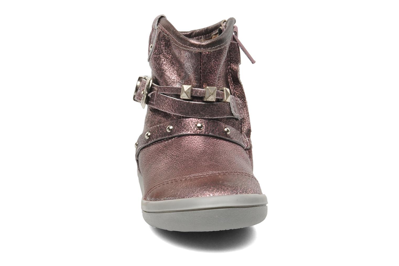Bottines et boots Noël MINO OMA Rose vue portées chaussures