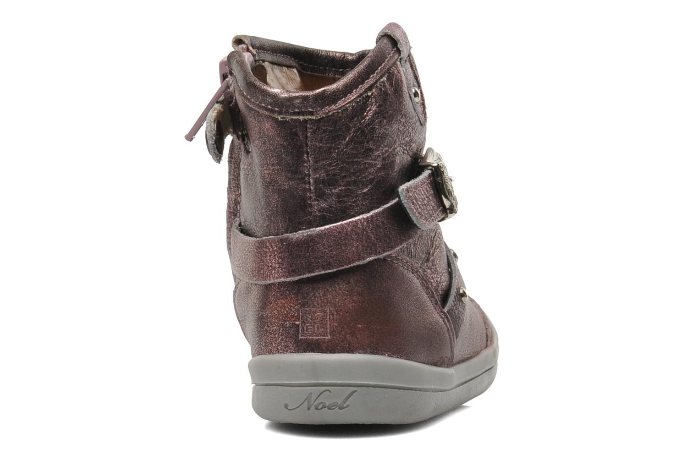 Bottines et boots Noël MINO OMA Rose vue droite