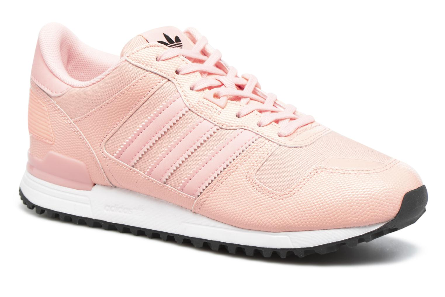 Baskets Adidas Originals Zx 700 W Rose vue détail/paire