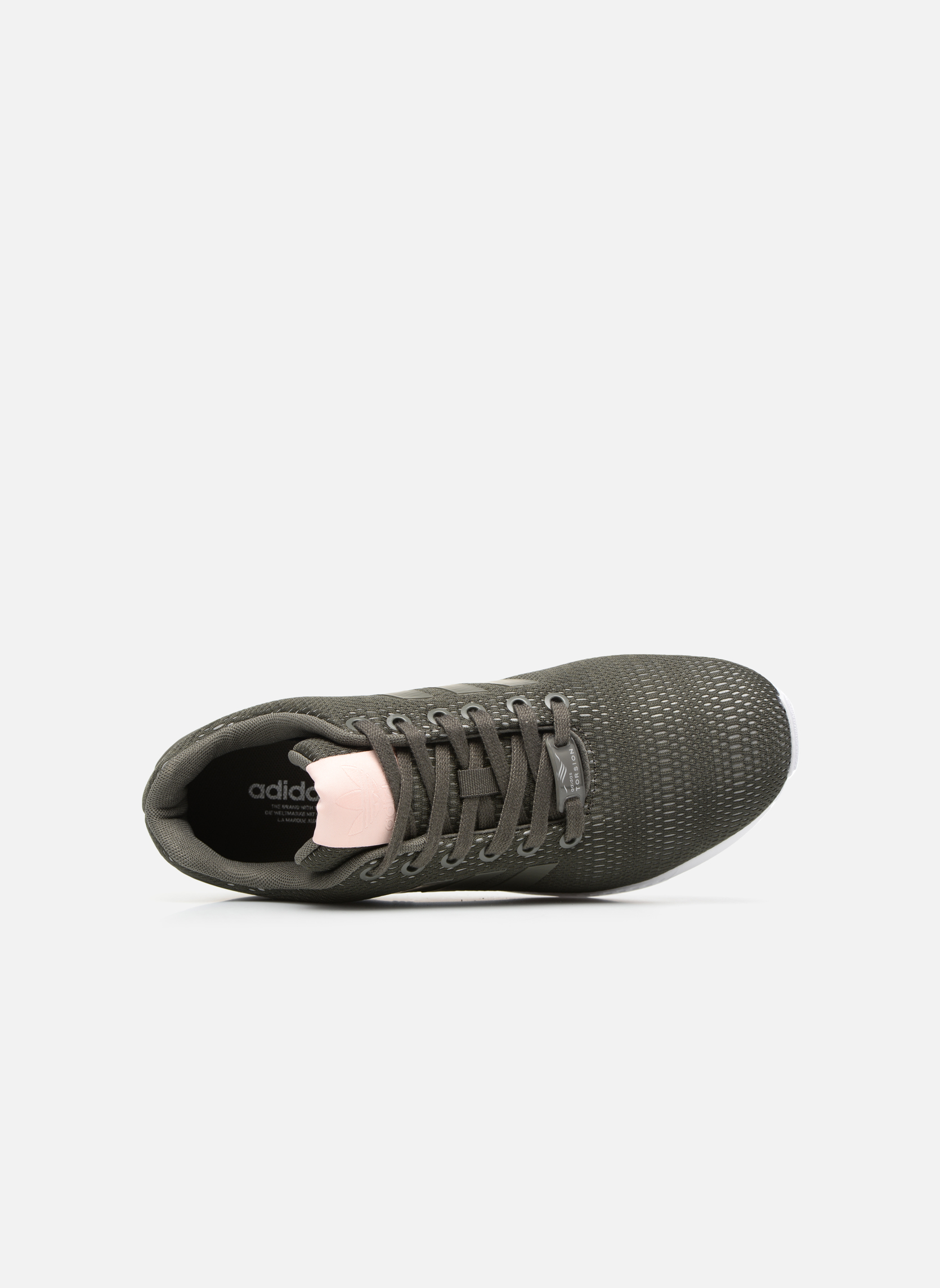 Baskets Adidas Originals Zx Flux W Vert vue gauche