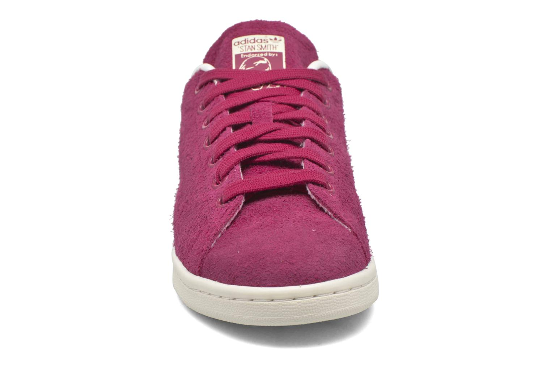 Baskets Adidas Originals Stan Smith W Rouge vue portées chaussures