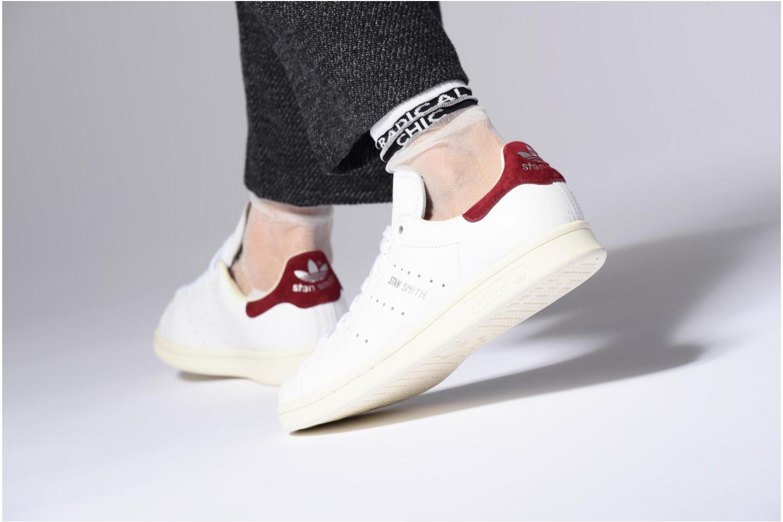 Baskets Adidas Originals Stan Smith W Argent vue bas / vue portée sac