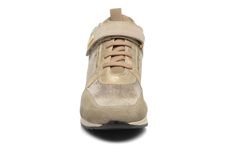 Baskets Les Tropéziennes par M Belarbi Liane Or et bronze vue portées chaussures