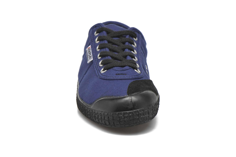 Baskets Kawasaki Basic Bleu vue portées chaussures