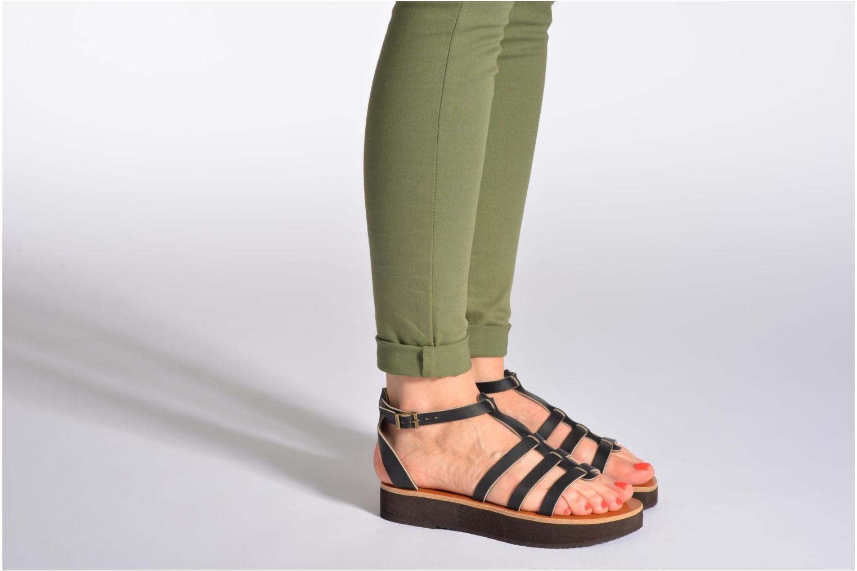 Sandales et nu-pieds Sandales de Thaddée Cesare 3 Noir vue bas / vue portée sac