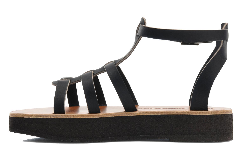 Sandales et nu-pieds Sandales de Thaddée Cesare 3 Noir vue face