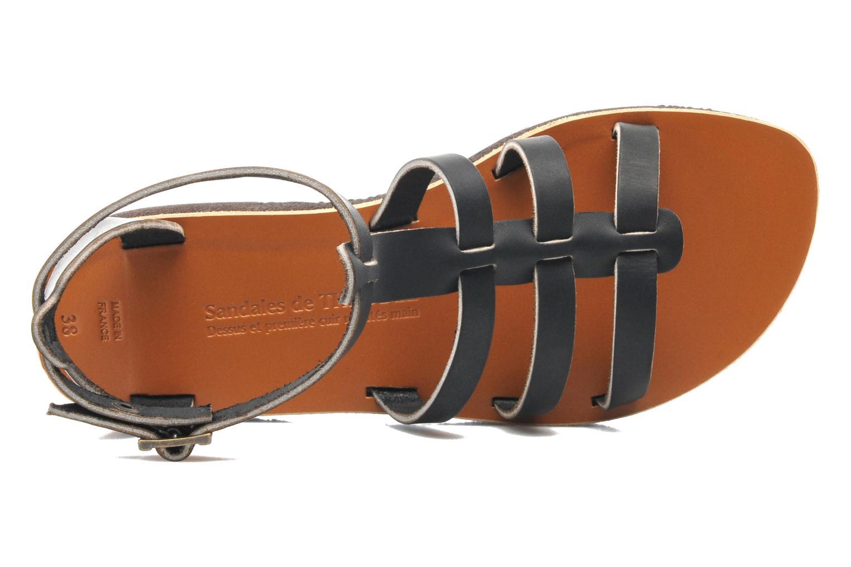 Sandales et nu-pieds Sandales de Thaddée Cesare 3 Noir vue gauche
