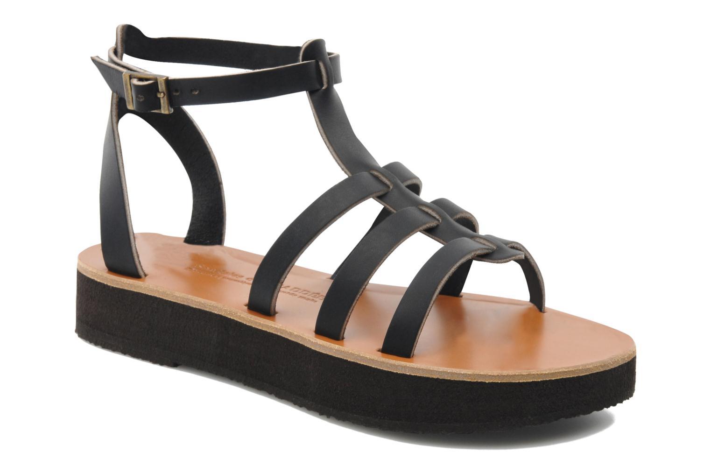 Sandales et nu-pieds Sandales de Thaddée Cesare 3 Noir vue détail/paire
