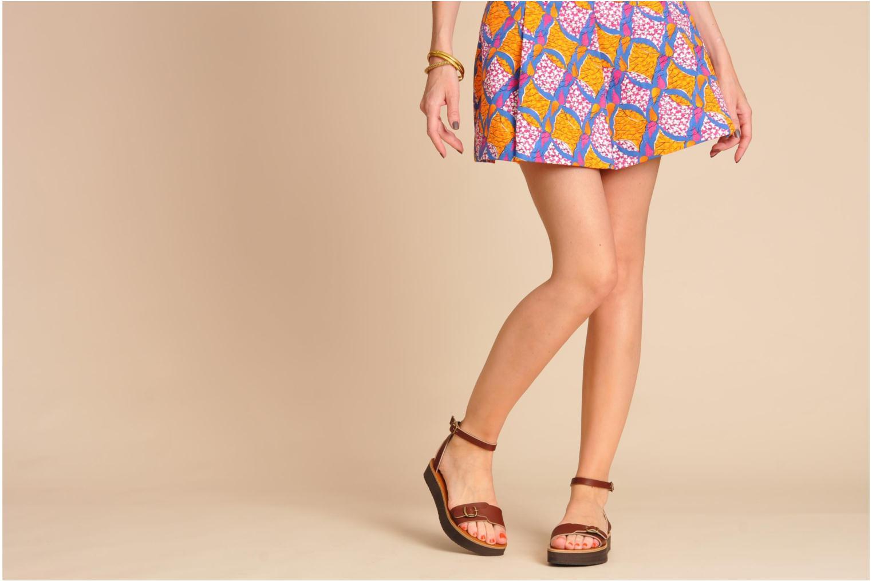 Sandales et nu-pieds Sandales de Thaddée Massada 3 Marron vue bas / vue portée sac