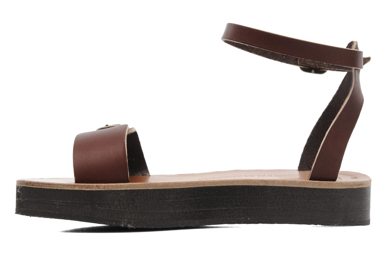 Sandali e scarpe aperte Sandales de Thaddée Massada 3 Marrone immagine frontale