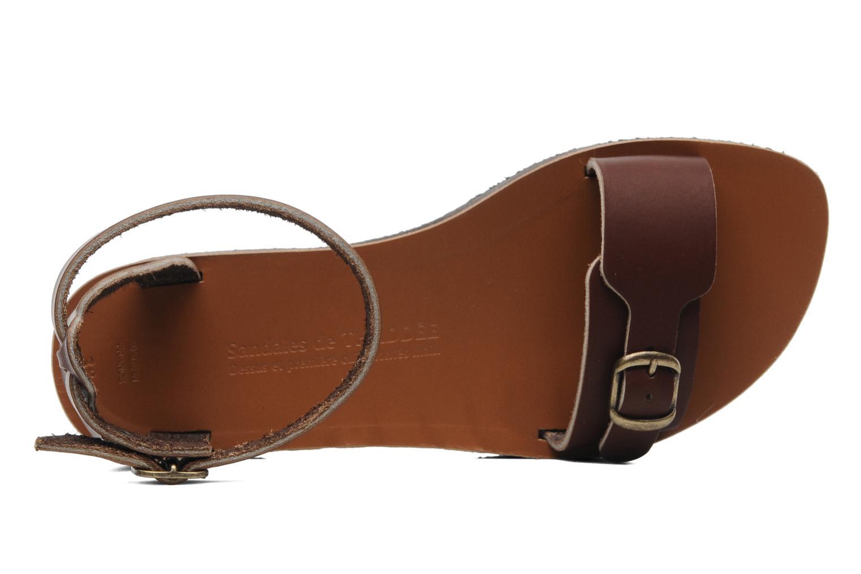 Sandali e scarpe aperte Sandales de Thaddée Massada 3 Marrone immagine sinistra