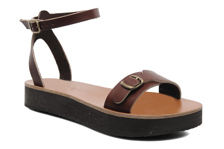 Sandales et nu-pieds Sandales de Thaddée Massada 3 Marron vue détail/paire