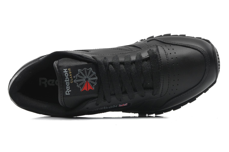 Sneaker Reebok Classic Leather schwarz ansicht von links