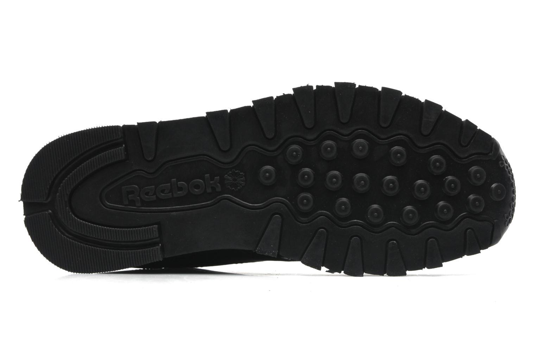 Sneaker Reebok Classic Leather schwarz ansicht von oben