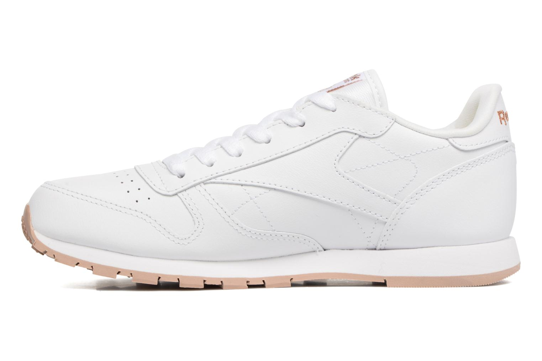 White/Gum - 2 Reebok Classic Leather (Blanc)