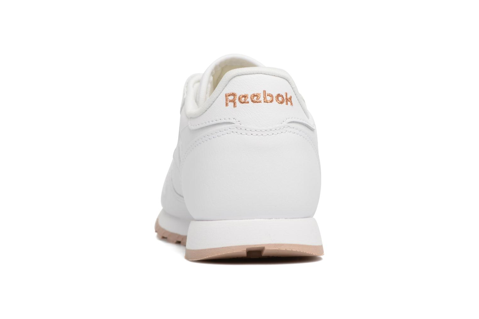 White/Gum - 2 Reebok Classic Leather (Blanc)