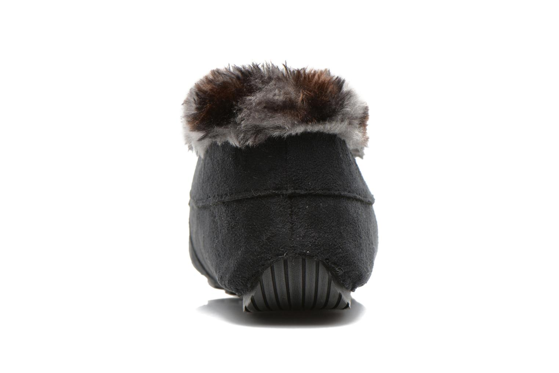 Pantofole Ruby Brown Mocassin leopard collar Nero immagine destra