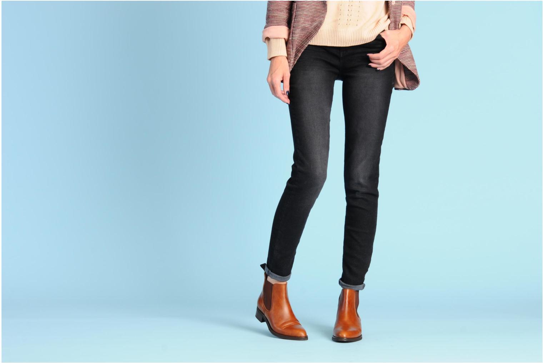 Bottines et boots Georgia Rose Amadouer Noir vue bas / vue portée sac