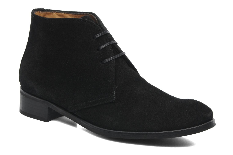Bottines et boots Georgia Rose Amaretto Noir vue détail/paire