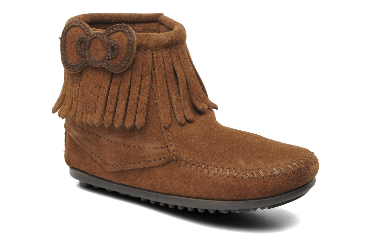 Hello Kitty Fringe Bootie Dusty Brown