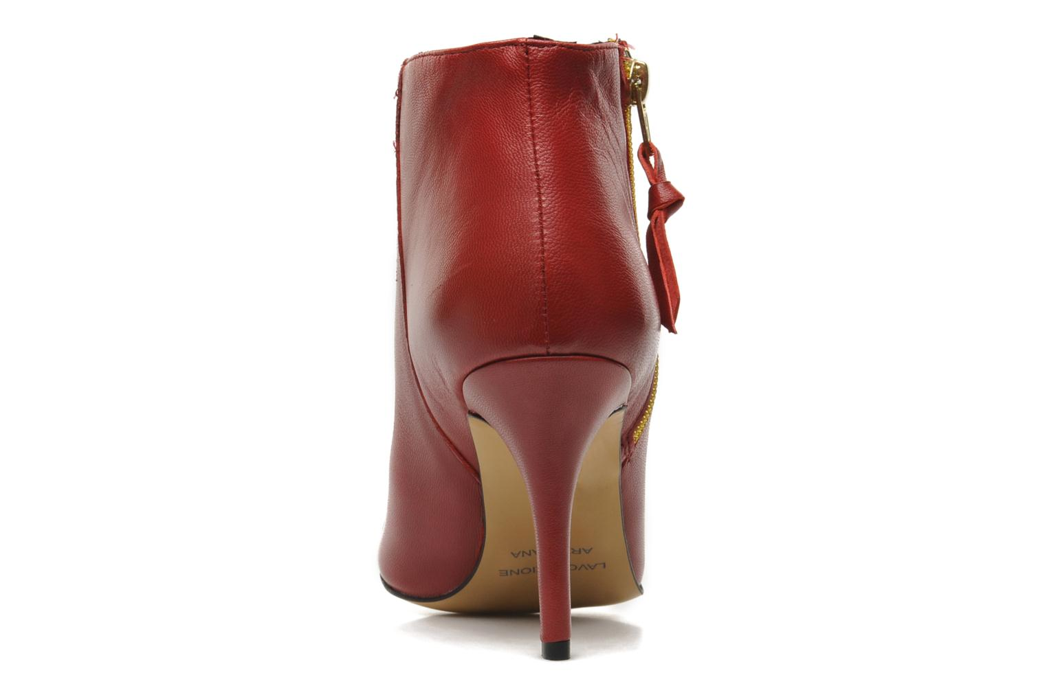 Ankle boots Georgia Rose Bernadette new Red view from the right