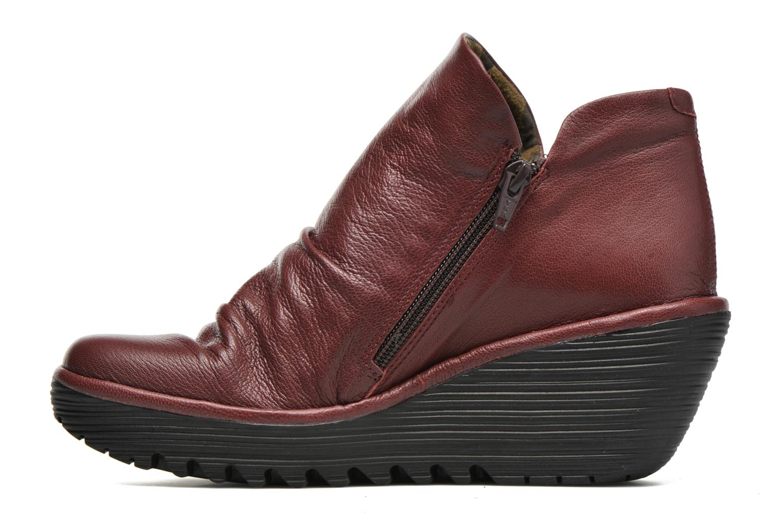 Ankle boots Fly London Yip Red front view