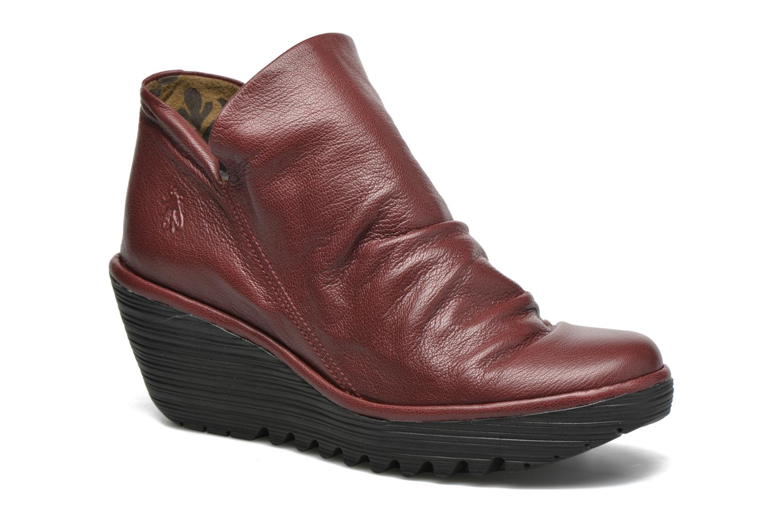 Bottines et boots Fly London Yip Rouge vue détail/paire