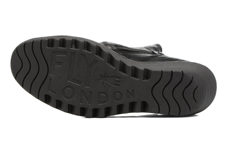 Bottines et boots Fly London Yip Noir vue haut