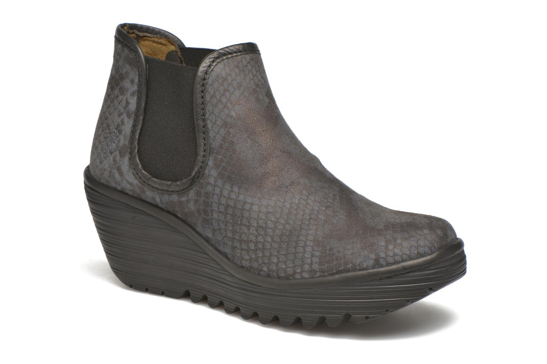 Bottines et boots Fly London Yat Noir vue détail/paire