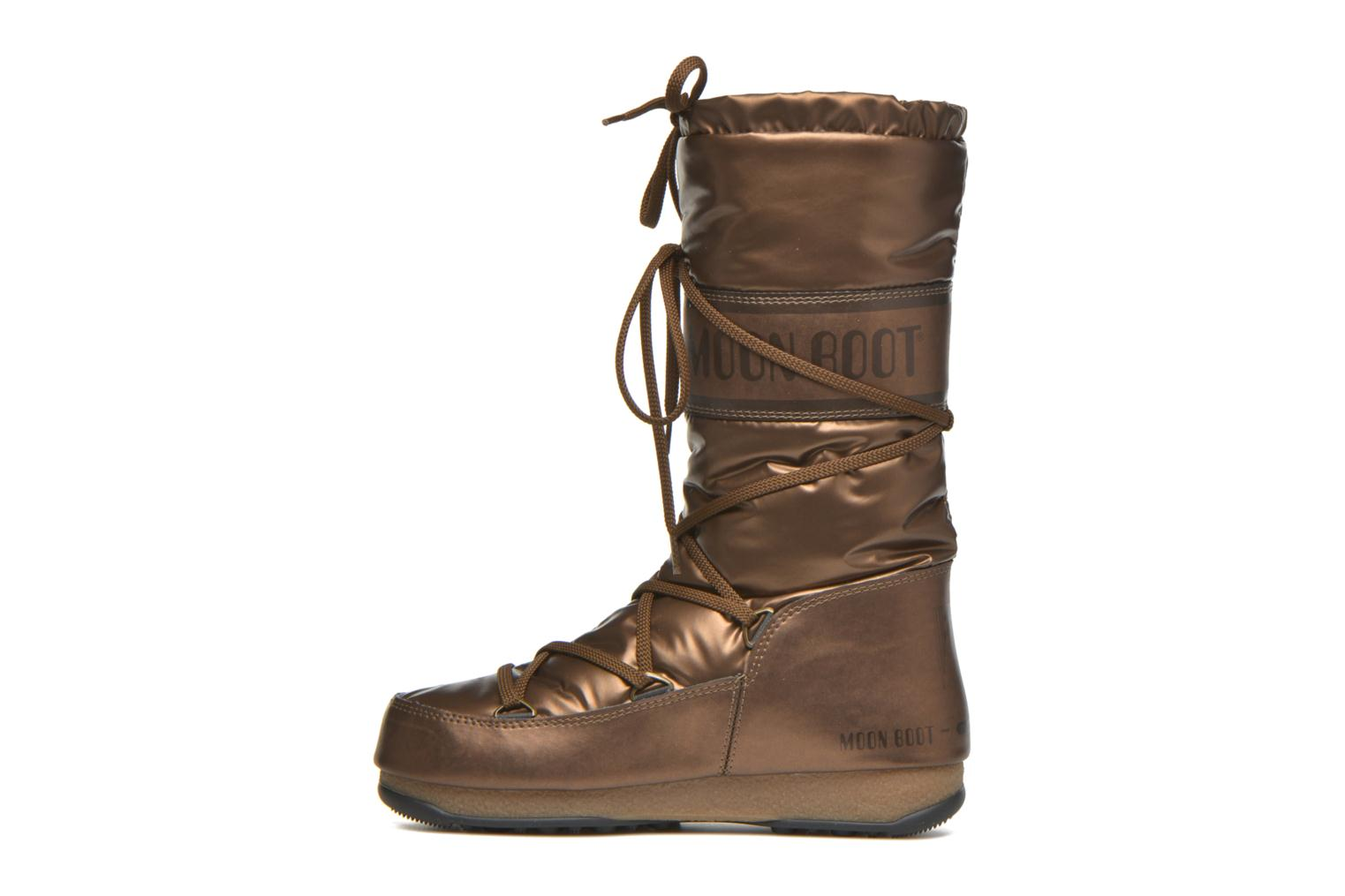 Botas Moon Boot Soft Met Oro y bronce vista de frente