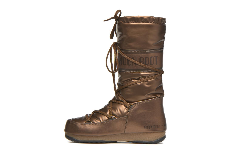 Botas Moon Boot Soft Met Oro y bronce vista de frente